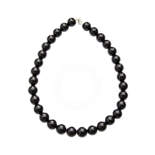 collier onyx pierres boules 14mm