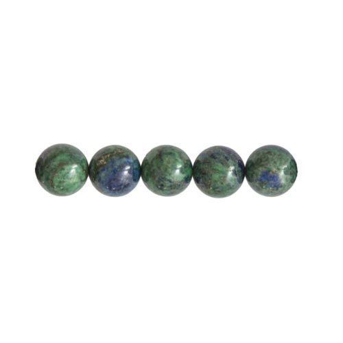 perle ronde chrysocolle 12mm
