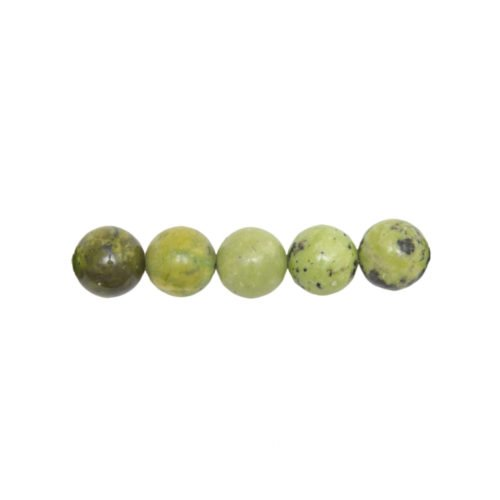 perle ronde chrysoprase citron 10mm