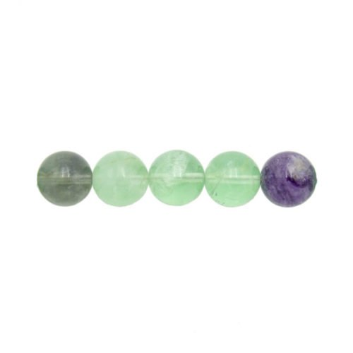 perle ronde fluorite multicolore 6mm