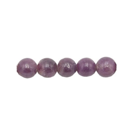 perle ronde rubis 6mm