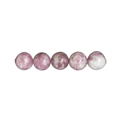 perle tourmaline rose 8mm
