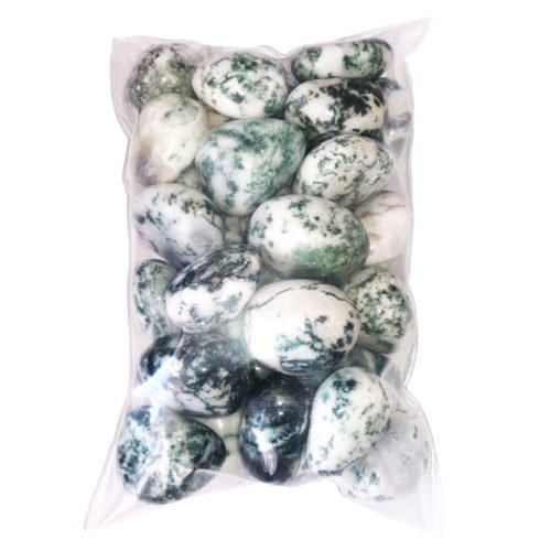 bags of Tree Agate tumbled stones