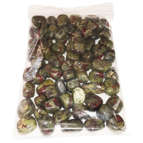 1kg bag of Bloodstone tumbled stones