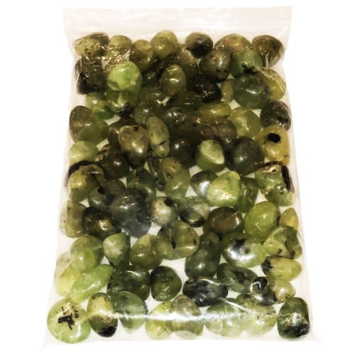 bag of prehnite tumbled stones