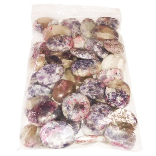 1kg bag of Rubellite tumbled stones