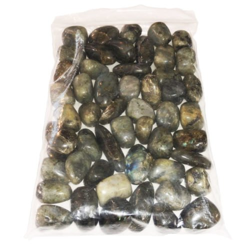 1kg bag of Spectrolite tumbled stones