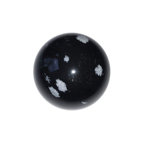 sphere obsidienne neige 40mm