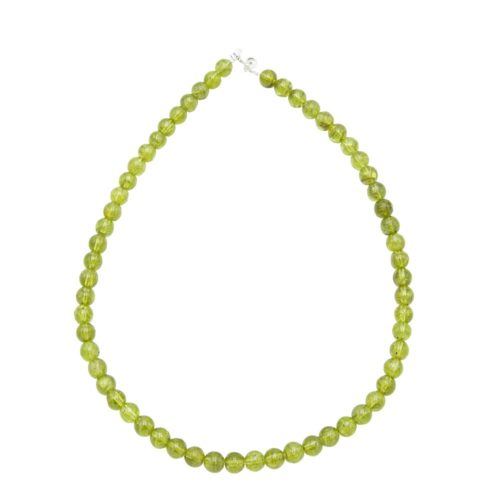 collier chrysolite 8mm